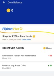 Flipkart Plus Coin Redemption