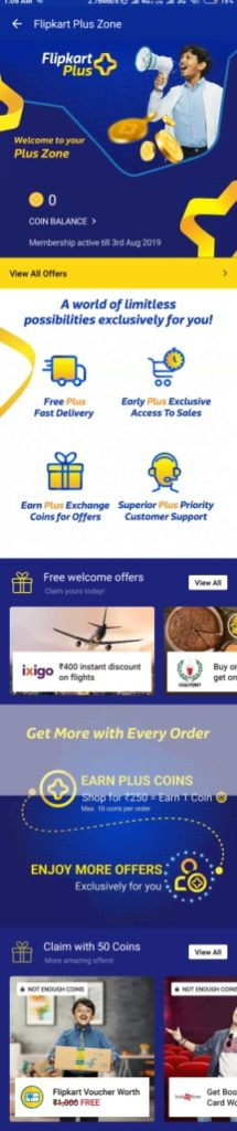 Flipkart Plus Offer Details